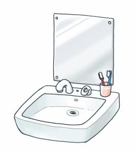 洗面台 イラスト