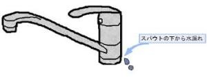キッチン水栓根元 水漏れ