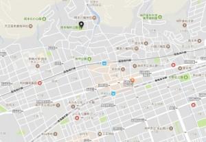 岡本梅林 地図