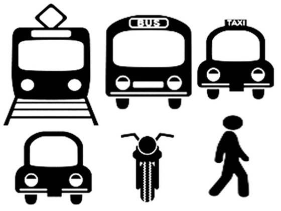 交通機関 イラスト